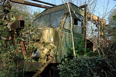Bedford timber crane (fryske) Tags: abandoned truck bedford rust diesel timber farm rusty lorry worcestershire scrapyard scrap derelict sawmill rl