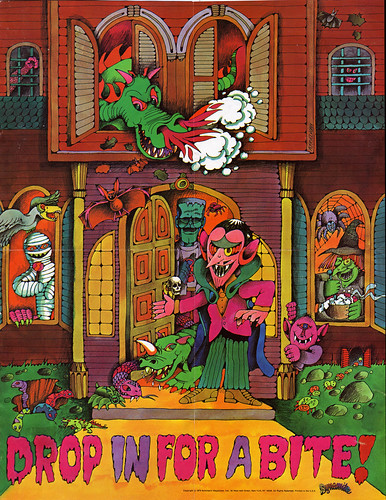 Scholastic - Dynamite Magazine - Count Morbida insert poster - by Arthur Friedman - 1976