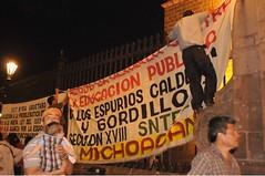 PROTESTA LA CNTE POR SALARIOS EN MICHOACAN