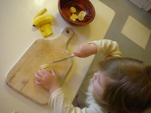 preparing a snack