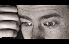 crop (remography) Tags: face self 50mm daylight photo eyes nikon gesicht foto hand finger fingers d70s crop utata freckles augen nikkor tageslicht eyebrows ausschnitt sommersprossen augenbrauen absorbedinthought gedankenversunken