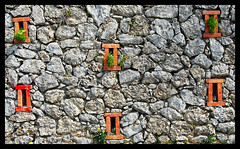 the wall (managerri) Tags: windows muro strange composition capri italia stones pietre minimalism soe gerri blueribbonwinner finestrelle managerri
