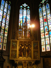 Katedra w. Wita (magro_kr) Tags: church window architecture prague cathedral interior gothic praha praga stainedglass altar czechrepublic okno katedra kosciol koci architektura gotyk czechy wntrze wnetrze witraz otarz witra oltarz eskrebublika