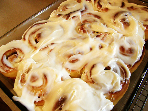 Frosted Cinnamon Rolls of Doom