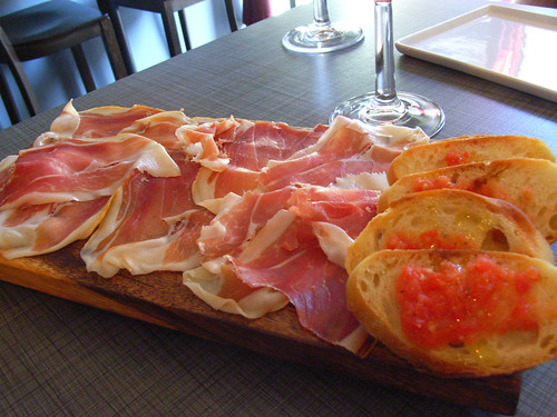 Jamon Serrano @ Pata Negra (my favorite spanish winebar) by you.