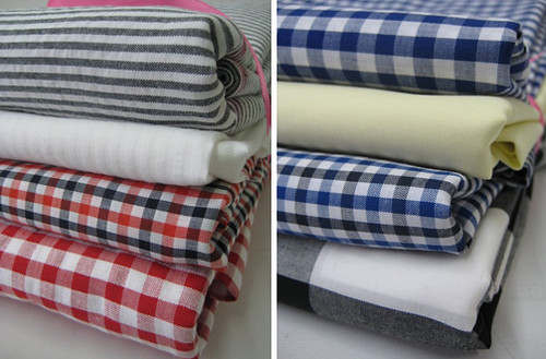 stripe and check fabric