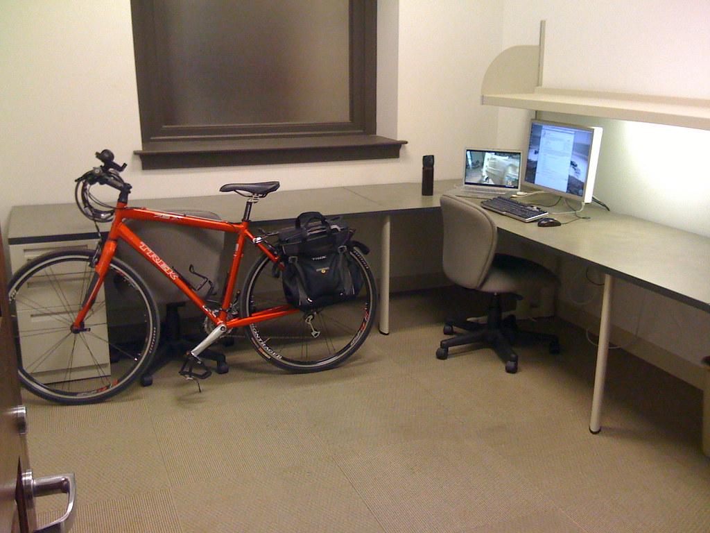 Office = Bike + Old MBP + Cinema Display