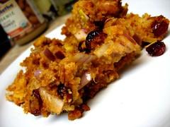 Cranberry Chorizo Cornbread Stuffing