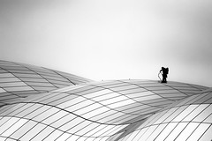An uphill climb. (Ian McWilliams.) Tags: windows mountains ice glass climb vertigo sage gateshead balance ropes climber uphill preperation accent decent newcastleupontyne windowcleaner thesagegateshead blackwhitephotos anuphillclimb thesagebuilding