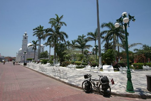 Beautiful plaza in Tlacotalpan