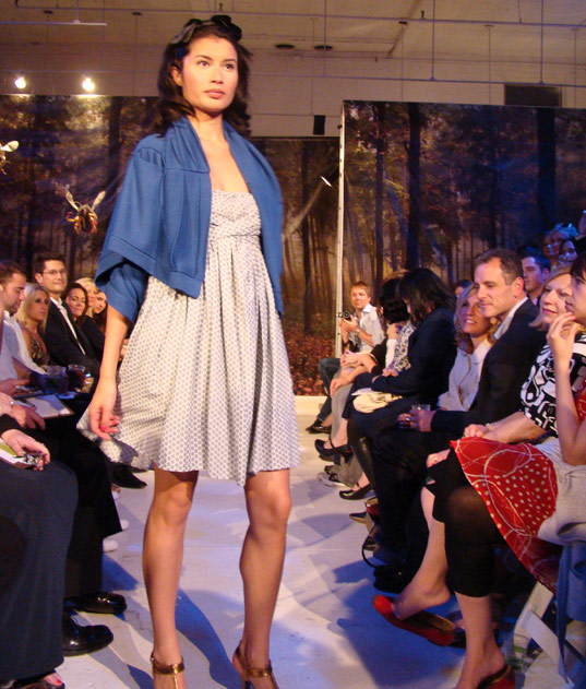 PED Runway Show: Niki Coat and Donna dress by Lara Miller
