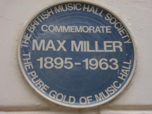 Photo of Max Miller blue plaque
