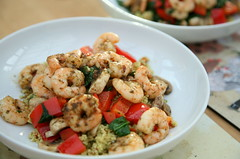 Spicy Moroccan Prawns with Couscous