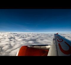 Way Away (Charles Gaisano) Tags: blue sky clouds airplane fly high altitude charles airline soe airasia gaisano blueribbonwinner