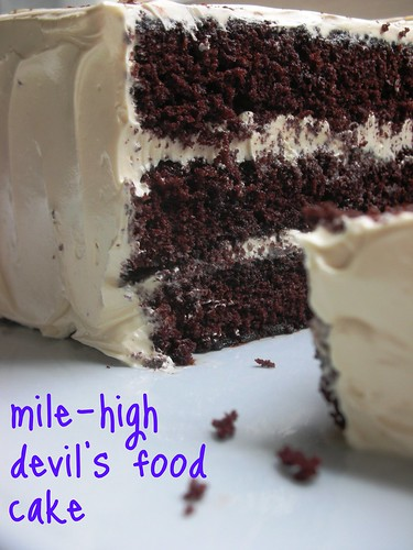 The Cake Slice: Mile-High Devil's Food Cake with Brown ...