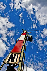 Happy Birthday - 175 years railway in Germany (justfordream) Tags: sky clouds himmel wolken eisenbahn mast signal leuchtturm n1 homesignal superaplus aplusphoto hauptsignal mainsignal