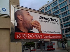 Dieting Sucks billboard