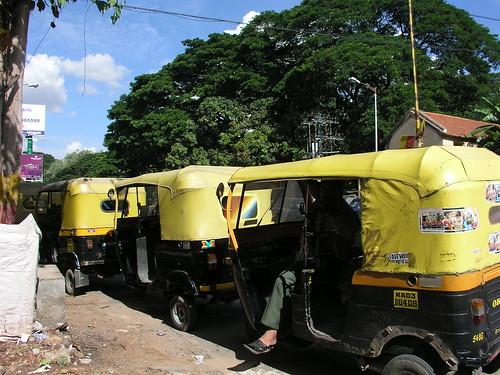 Rickshaws at Commercial Street