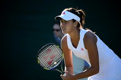 Ana Ivanovic, receiving (Bruno Girin) Tags: uk greatbritain london unitedkingdom serbia wimbledon anaivanovic allenglandlawntennisclub