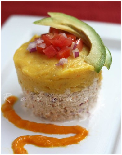 Peruvian Causa, Crab and Potato Salad