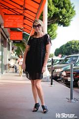 california ca street city portrait people girl sunglasses fashion la losangeles women style blond hollywood prada blackdress streetfashion streetstyle histyley