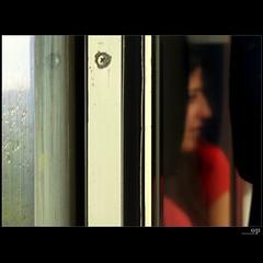 Inside/Outside (Osvaldo_Zoom) Tags: trip italy reflection art rain composition train artist journey commuter trenitalia