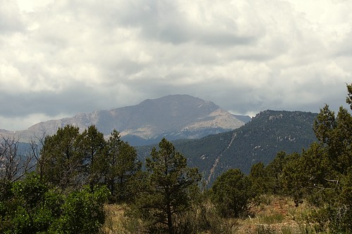 View of Pike's Peak from Garden of the Gods.