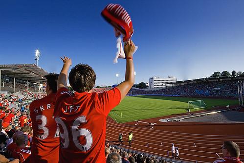 Liverpool vs. Lyn på Bislett