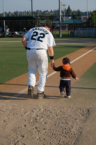 Running the bases with Daddy