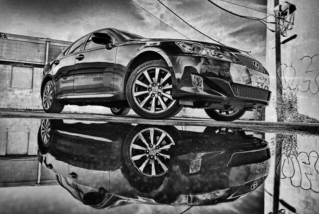 blackandwhite car bbw automotive lexus is250 automotivephotography