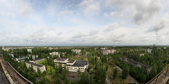 Pripyat panorama abandond city of the Chernoby...