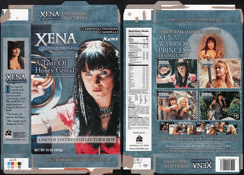 Rittenhouse Archives - Xena Warrior Princess A Taste of Honey cereal box - Xena - 2002