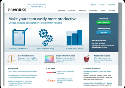 PBworks- Free Collaboration, Intranet, Extranet, Project Management, Business Wiki