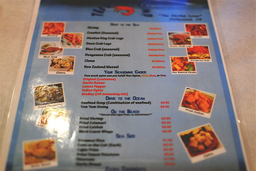 the boiling shrimp menu