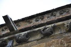 Bloxham north wall corbel table by Banbury school 1340 DSC_0003_01-706 (bwthornton) Tags: travel art history tourism church walking churches stainedglass tourist steeple guide stmary oxfordshire banbury webb williammorris wallpaintings bloxham burnejones churchcrawling morrisandco