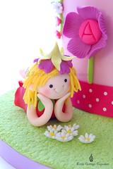 My Little Fairy! (Little Cottage Cupcakes) Tags: birthday pink flowers girl grass cake daisies fairy fairies fondant sugarpaste littlecottagecupcakes
