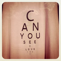 Can you see I love you?