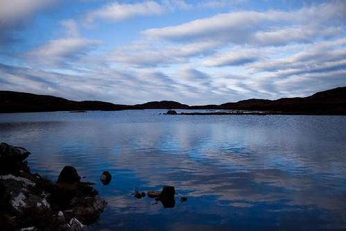 Loch Meadie in blue