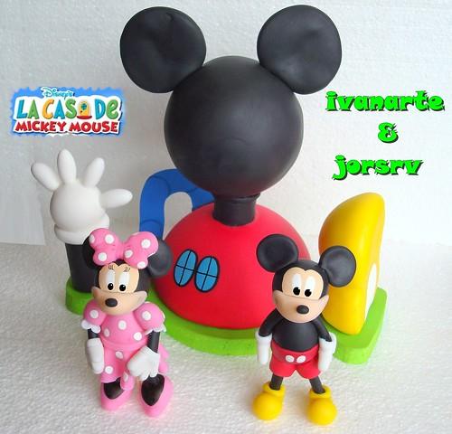 Adorno de torta de la casa de Mickey Mouse - Imagui