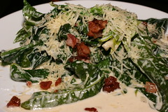 creamy spinach with bacon