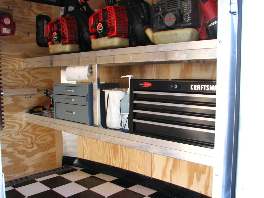 Pictures of the new Enclosed Trailer Interior | LawnSite