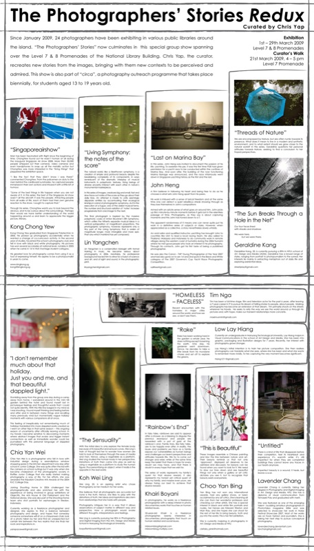The Photographers' Stories Redux - Panel Front