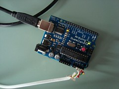 WiiChuck connected to Arduino