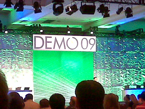 Watching old friend Mark Goldstein launch new co at #demo. Seeing other old friends too