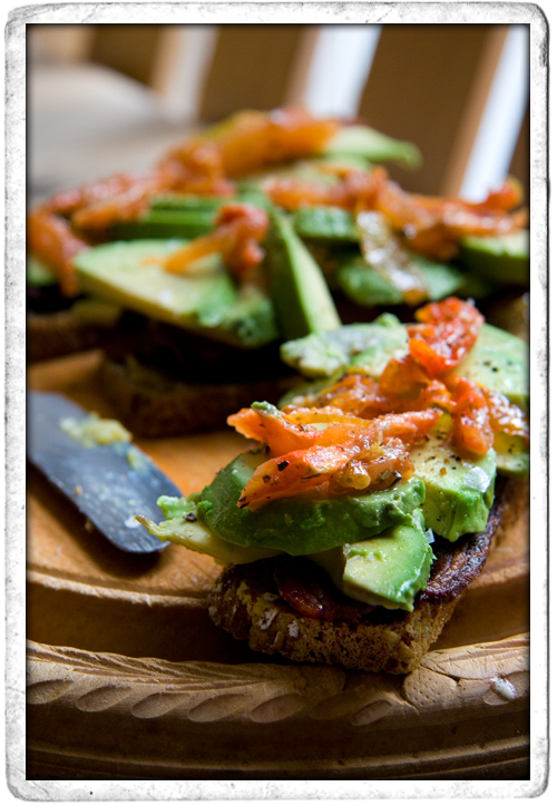 :: Bacon Avocado and Sundried Tomato Sandwich