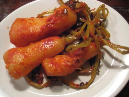 Pickled radishes (Korean style)
