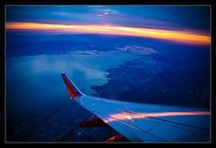 I HELLA <3 BAY (Danny Lee Photography) Tags: sanfrancisco sunrise airplane wings sfo bayarea eastbay sanmateo sfbay southwestairlines 1635mm flyingoverthebay canon40d seat16c