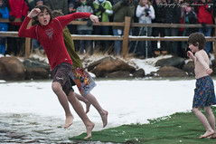 Umm...  Weren't We Jumping Together? (2 of 4) (Mike Berenson - Colorado Captures) Tags: snow cold ice water festival jump nikon colorado brothers shed nederland grandpa 2009 brr polarplunge d300 tuffshed cryonics frozendeadguydays bredo