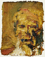 Painting by Frank Auerbach (sarcoptiform) Tags: portrait art painting frank mud o head fat w fine drip ii e messy oil heavy sludge thick 1961 gooey auerbach impasto