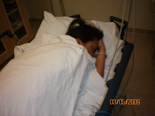 Mom hospital bed